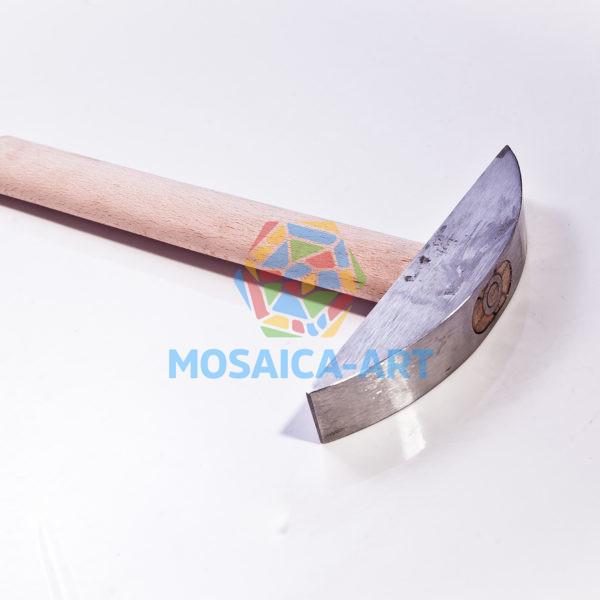 Молоток для смальты и камня с одним победитовым наконечником