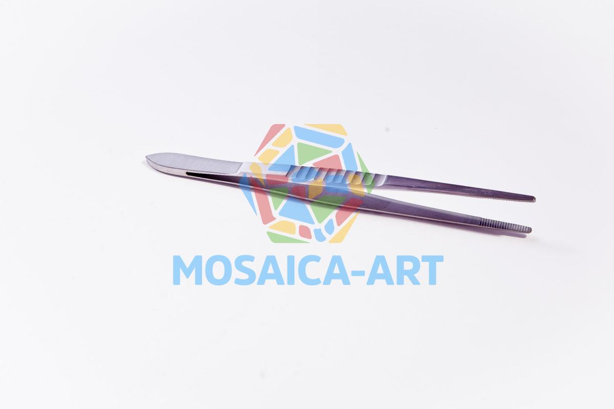 Пинцет для мозаики с прямыми округлыми концами