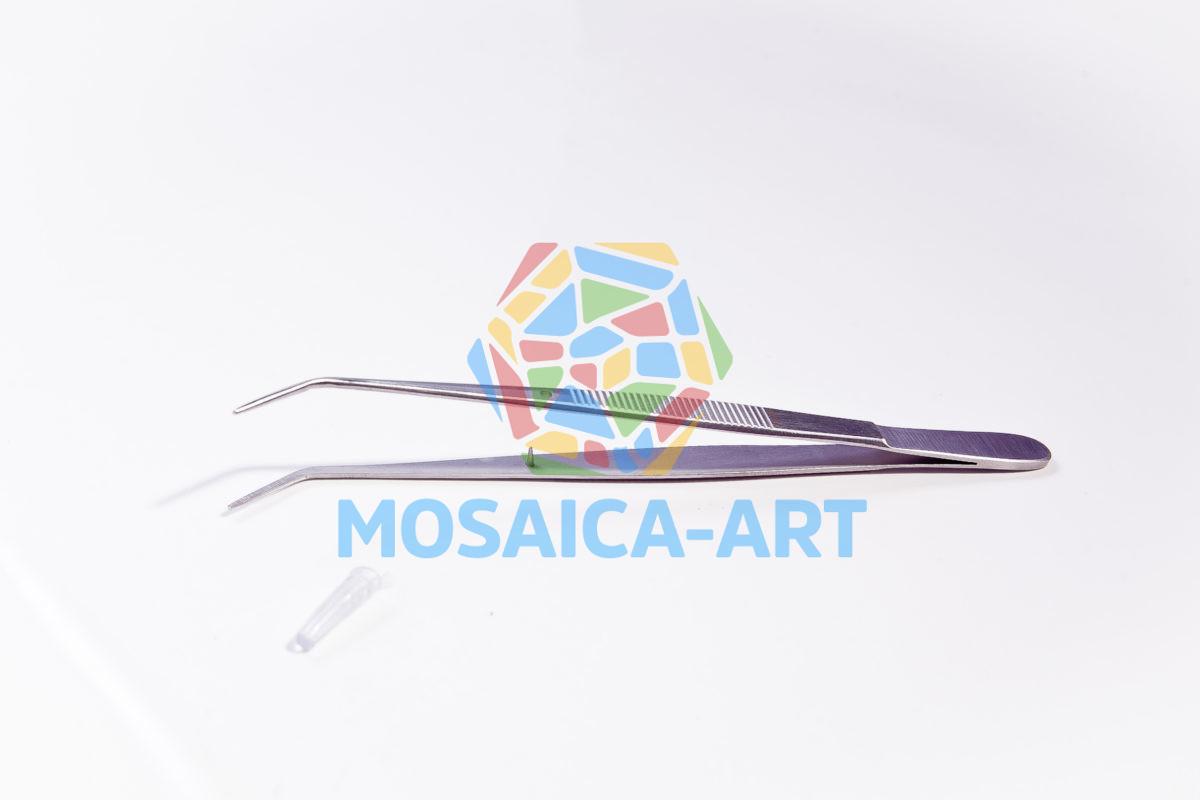 Пинцет для мозаики с изогнутыми концами